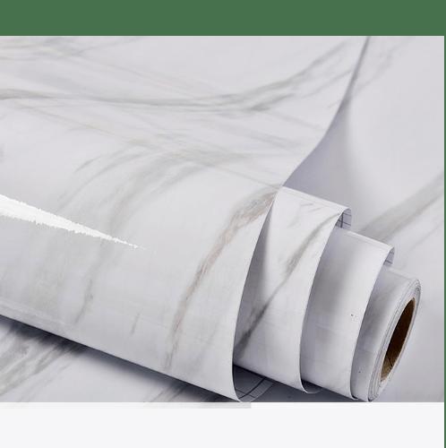 TAPIO วอลเปเปอร์ ขนาด 45x1000cm ลายหินอ่อน BYD018 สีขาว