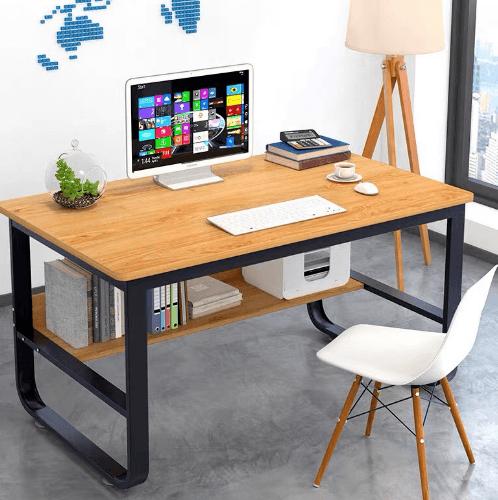 SMITH โต๊ะทำงาน ขนาด 60X120X73ซม.  HD004 สีไม้ลูกแพร์