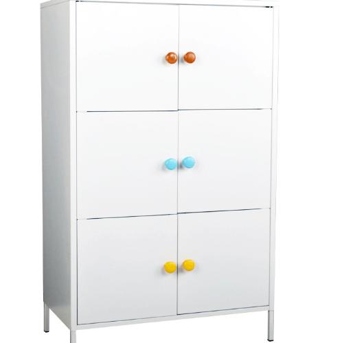 ULA ตู้เก็บของเหล็กอเนกประสงค์ BDL08 สีขาว