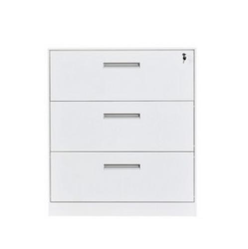 Haritage ตู้ลิ้นชักเหล็ก 3 ลิ้นชัก ขนาด 45x90x103 cm.  ZY-014  สีขาว