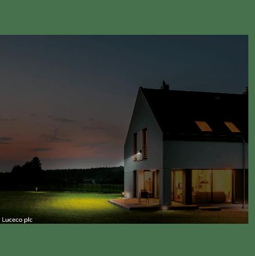 LUCECO ไฟ LED ฟลัดไลท์ โซล่าร์เซลล์   LEXSF11B40-GH