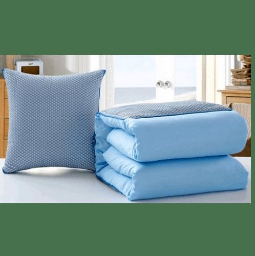 COZY หมอนผ้าห่ม ขนาด 50X50  CXNE025 สีฟ้า