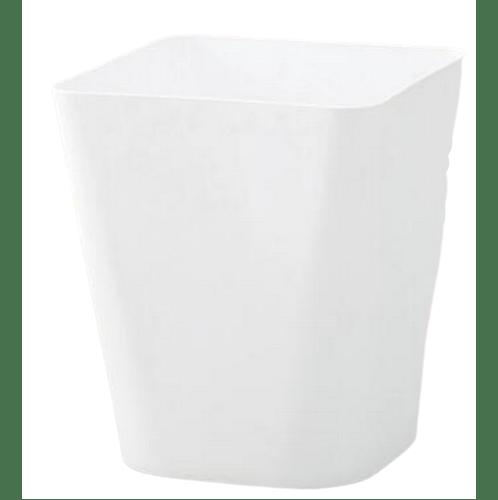 - ถังขยะทรงเหลี่ยม ขนาด 11L  ZQJ007-WH สีขาว