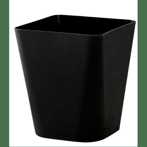 - ถังขยะทรงเหลี่ยม ขนาด 11L  ZQJ007-BK สีดำ