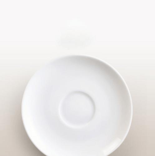 ADAMAS จานรองแก้วโอปอล ขนาด 6 นิ้ว D60B ขาว
