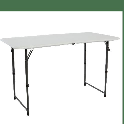LIFETIME โต๊ะอเนกประสงค์ ขนาด 4 ฟุต พับครึ่ง 80246  สีขาว