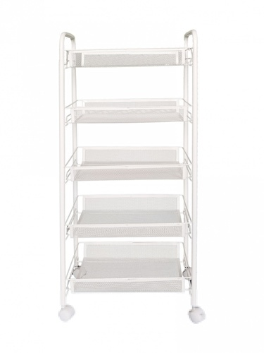 SANE ชั้นวางของอเนกประสงค์ ในครัวพร้อมล้อ 5 ชั้น ขนาด 44x26x106 ซม.  FIBBA สีขาว