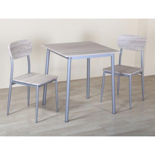 Delicato ชุดโต๊ะอาหาร 2 ที่นั่ง โต๊ะ:70X70X76.5ซม. เก้าอี้:41X45.5X84.5ซม. B01065 สีน้ำตาลอ่อน