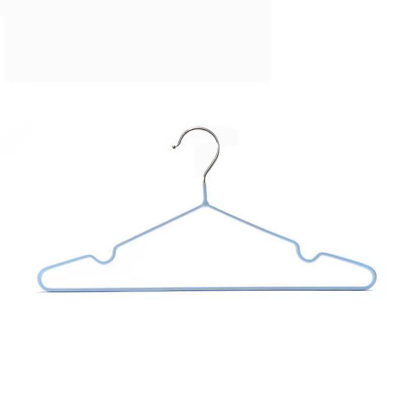 SAKU ไม้แขวนเสื้อเหล็กเคลือบกันลื่น AN104 สีฟ้า