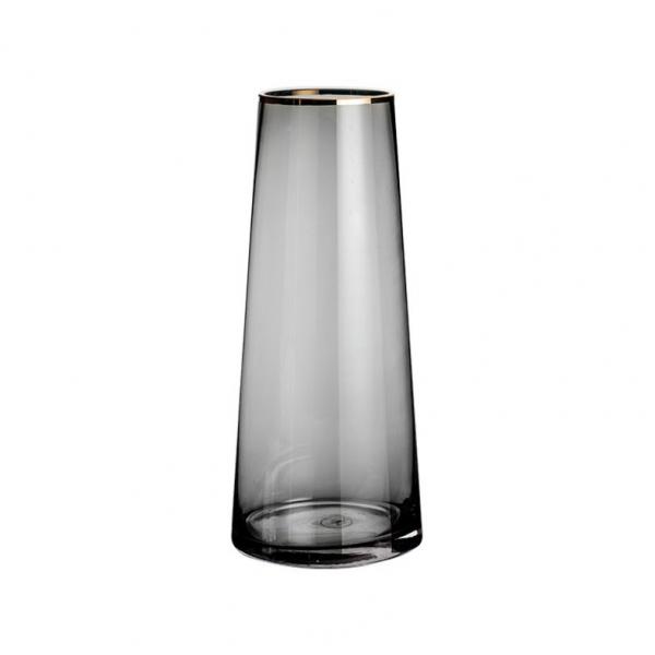 COZY  แจกันแก้ว ขนาด 13x25 ซม. Black-M  สีดำ