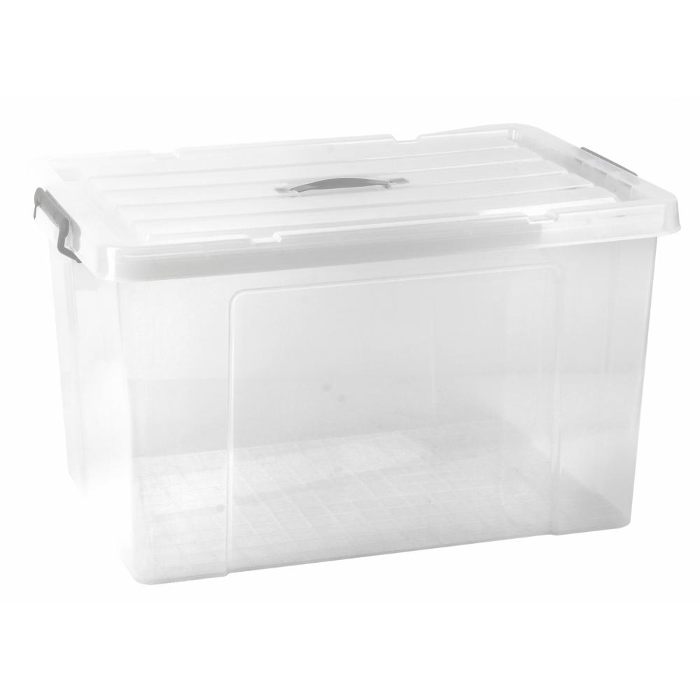 GOME กล่องเก็บของอเนกประสงค์ 117ลิตร ขนาด75.5x51.5x43ซม. สีใส TG51028