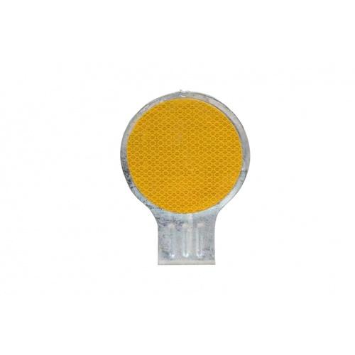 PROTX ป้ายวงกลมสะท้อนแสง ขนาด 10 ซม. RS-10 สีเหลือง