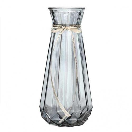 COZY  แจกันแก้ว ขนาด 12x30 ซม. Cacia  สีเทา