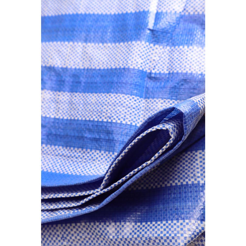 POLLO ผ้าใบสานPP  ขนาด 2Yx 3M สีฟ่าขาว