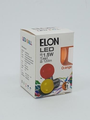 EILON หลอดปิงปองสีส้ม 1.5 W  BL-G45-Y001 สีส้ม