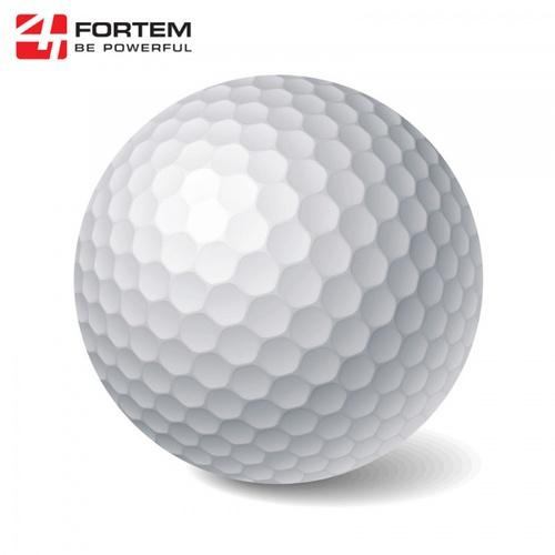 4TEM ลูกกอล์ฟซ้อมพัตต์ ขนาด 1.6นิ้ว แพ็ค 3 ลูก 6SDYB018 สีขาว
