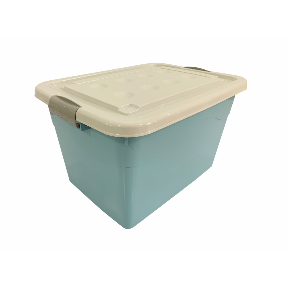GOME กล่องพลาสติกมีล้อ 50 ลิตร ขนาด 34.5x47x27ซม. 2BEZ045-BL สีฟ้า
