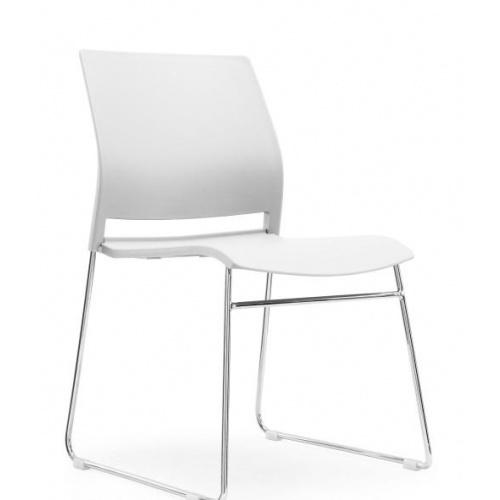 ULA เก้าอี้สำนักงาน CH-252C-BS สีขาว