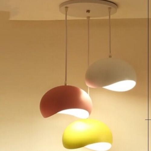 EILON โคมไฟแขวนโมเดิร์น  3หัว   ZS-011 สีแดง เหลือง ขาว