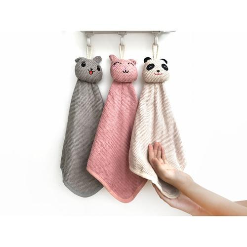 ICLEAN ผ้าเช็ดมือแขวน จำนวน 3 ผืน/แพ็ค คละสี 6YWXY-003-1
