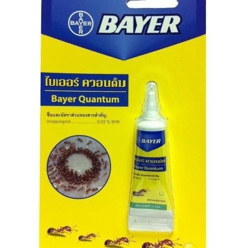 BAYER  เหยื่อกำจัดมด ชนิดเจล ควอนตั้ม 12 กรัม Bayer.  เหลือง