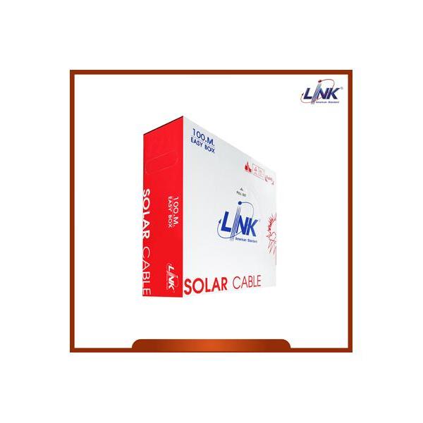 LINK สายไฟโซล่าเซลล์ PV ขนาด 4.0 mm2 TUV EN50618 CB-1040R-1 (100 M./Box) สีแดง