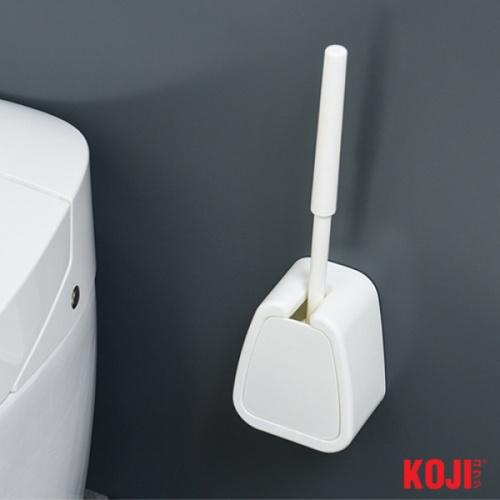 KOJI แปรงขัดห้องน้ำ ขนาด 8.5x12.5x45 cm. 2CQS006-WH สีขาว