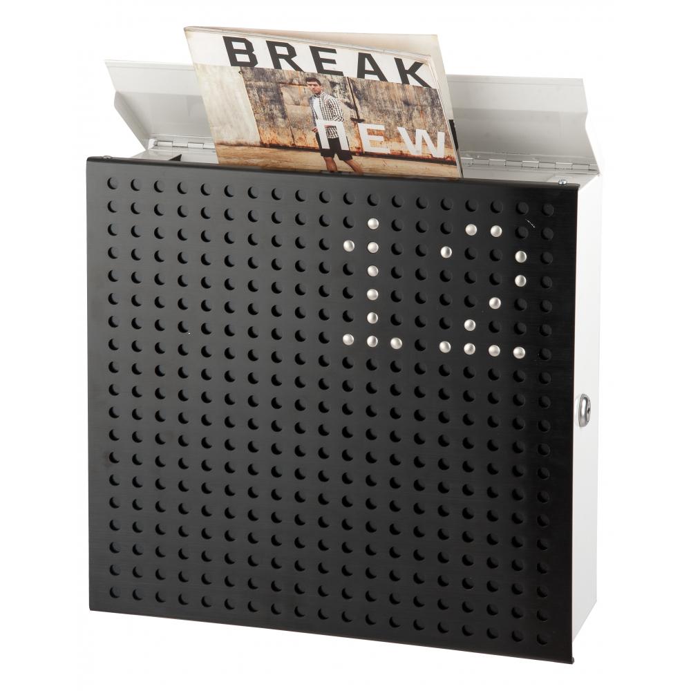 HATO ตู้จดหมาย พร้อมหมุด DIY  WP012 สีดำ