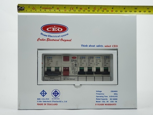 CEO เครื่องตัดไฟฟ้ารุ่น  CSL  63A  4 ช่อง  CEO CSL 4w 63A CEO