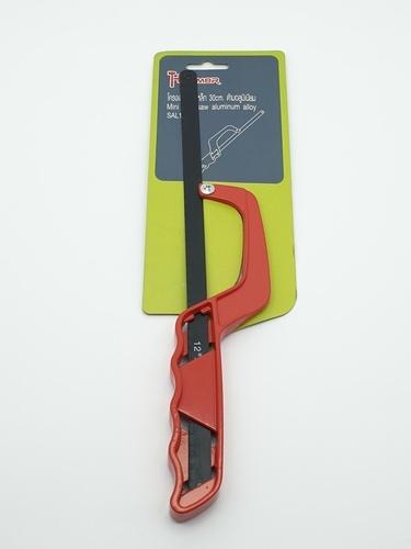 HUMMER โครงเลื่อยตัดเหล็ก 30cm. ด้ามอลูมิเนียม  SAL 17-RD สีแดง