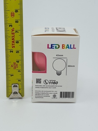 EILON หลอดปิงปองสีชมพู 1.5 W BL-G45-Y001 สีชมพู