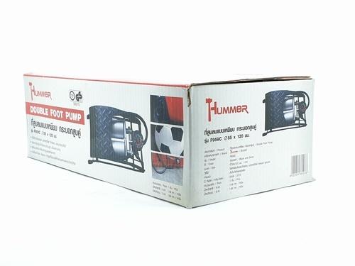 HUMMER ที่สูบลมแบบเหยียบ กระบอกสูบคู่ ขนาดกระบอกสูบ 55mm x 120mm  F959C
