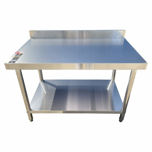 CROWN โต๊ะเตรียมสเตนเลส 2 ชั้น ขนาด 120x70x85+10 ซม.  S1270