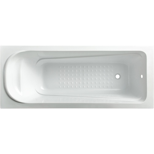 VERNO อ่างอาบน้ำพร้อมสะดือ ขนาด170x75x40cm. Mamba1027 สีขาว