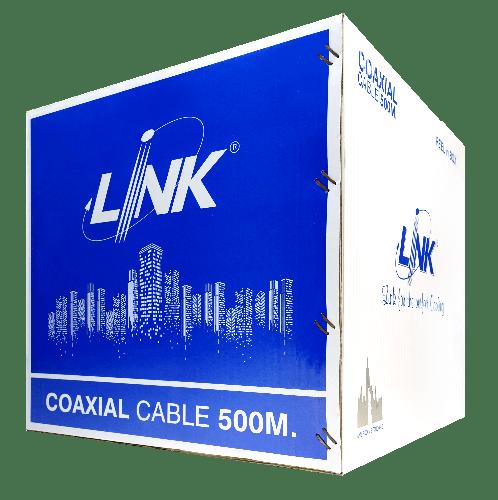 LINK  สายเคเบิ้ล  CCTV RG 6 LINK SH. 95%  (500 M./ Box) CB-0106A สีดำ
