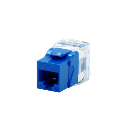 LINK CAT5E  RJ45 COLORFUL JACK,SLIM  US-1005SC4 สีฟ้า