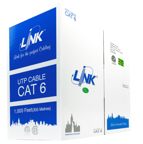 LINK สายแลน CAT6 UTP (250MHz)w 305M.   US-106A-1 สีฟ้า