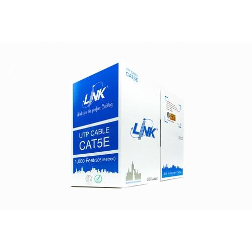 LINK สายแลน CAT 5E UTP LINK สีขาว 305ม. US-9015 สีขาว
