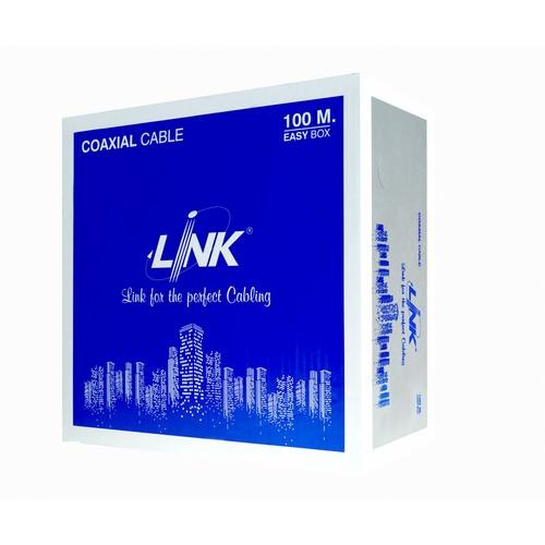 LINK สายเคเบิ้ล  CCTV RG 6 LINK SH. 95% สีดำ  (100 M./Box) CB-0106A-1 สีดำ