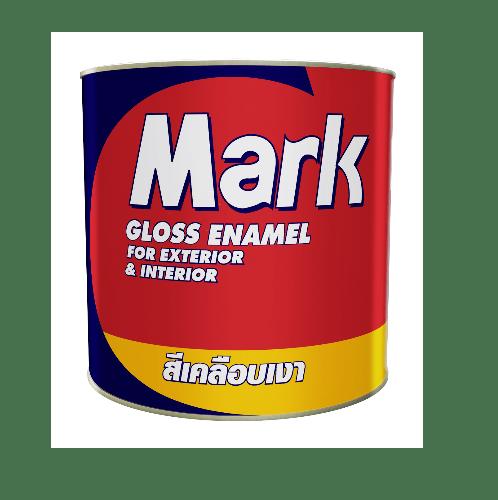 CAPTAIN สีเคลือบเงา มาร์ค  #0M877 1 กล. สีเทาอ่อน