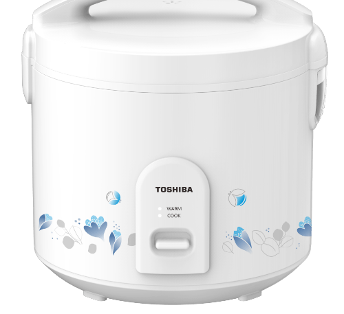 TOSHIBA หม้อหุงข้าวอุ่นทิพย์ 1 ลิตร RC-T10JH(W) สีขาว