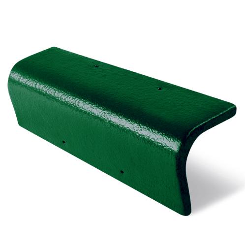 ตราเพชร ครอบ ข้าง 90  กระเบื้อง CT Gran Onda สีเขียวผ่องใส