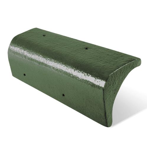 ตราเพชร ครอบปิดชาย  กระเบื้อง Ct Gran Onda สีเขียวตองอ่อน