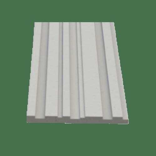 ตราเพชร ไม้ตกแต่งเซาะร่อง ขนาด 1.2x20x240ซม.สีซิเมนต์ เทมโป