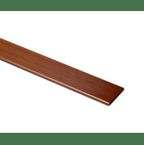 ตราเพชร ระแนงลบมุม เพชร  ขนาด 0.8x7.5x300 cm.แดงทับทิม