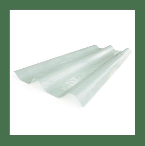 ตราเพชร กระเบื้องโปร่งแสง ขนาด  0.8x50x120 cm. ลอนคู่ สีขาว