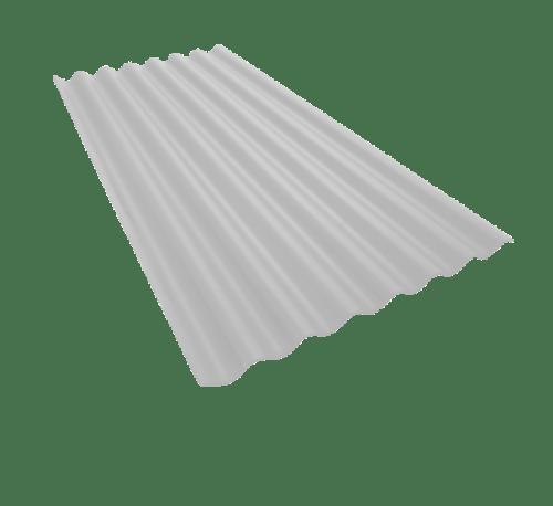 ตราเพชร กระเบื้อง ลอนเล็กเพชร  0.4x54x150ซม.ขาวงาช้าง
