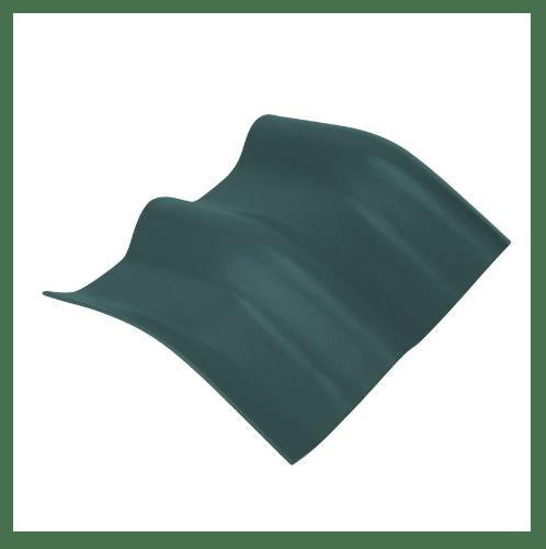 ตราเพชร ครอบมุมองศา 15 องศา กระเบื้องลอนคู่ ขนาด 48x40.5 ซม. สีเขียวสดชื่น
