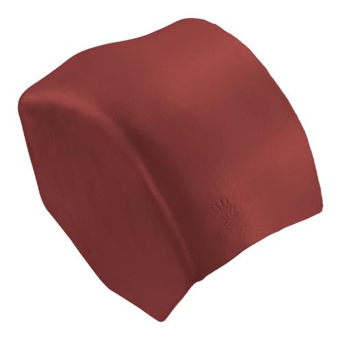 ตราเพชร ครอบปิดจั่วสันโค้ง กระเบื้องลอนคู่ ขนาด 27.5x15.5 ซม. สีแดงมั่งมี
