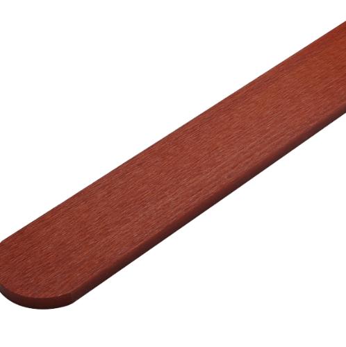ตราเพชร ไม้รั้ว ลายเสี้ยน รุ่น หัวโค้ง หน้า 4 นิ้ว ยาว 1 ม. ขนาด 1.5x10x100 ซม. แดงประกายทอง